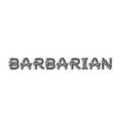 Barbarian logo lettering celtic font norse vector