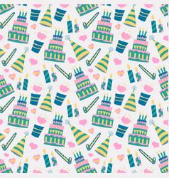 birthday cake background pattern vector image