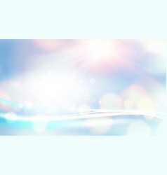 blue lights backdrop bokeh and lens flare on vector image