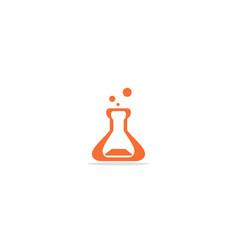 bottle science lab logo vector image