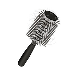 brush hair loss vector image