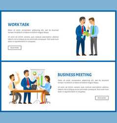 business meeting and work task report discussion vector image