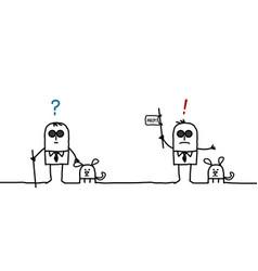 Cartoon blind man expressions vector