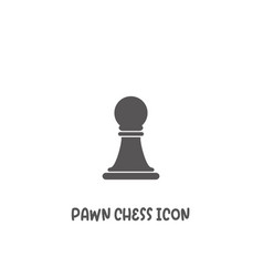 Chess pawn piece icon simple flat style vector