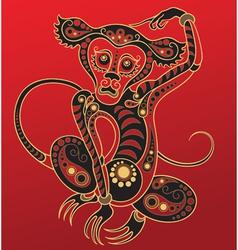 chinese horoscope year monkey vector image