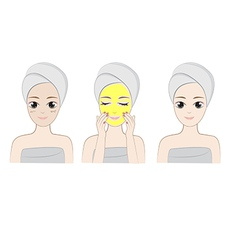 Clean face vector