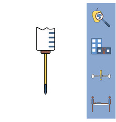 Collection of icons and medical equipment vector