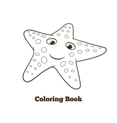 Coloring book starfish fish cartoon vector image