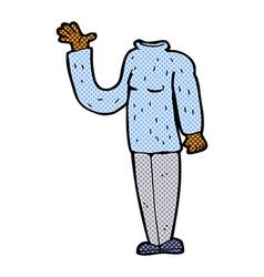 Comic cartoon headless body mix and match comic vector