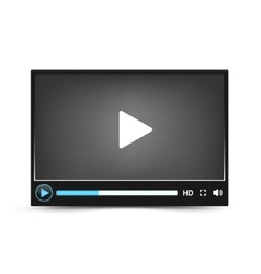Dark skin video player interface vector
