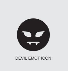 Devil emot icon vector