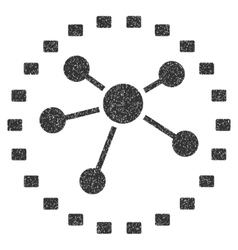 Dotted Links Diagram Grainy Texture Icon vector image
