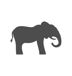 Elephant Silhouette Isolated on White Background vector image