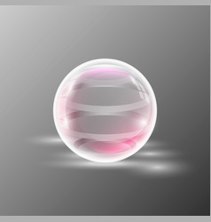 empty transparent sphere vector image