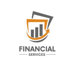 financial service logo vector image