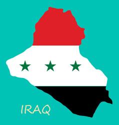 Flag map of iraq vector