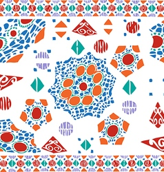 Geometric pattern ethnic colorful abstract vector