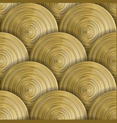 golden circles seamless pattern vector image