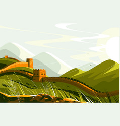 great wall china vector image