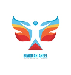 Guardian angel logo template concept vector