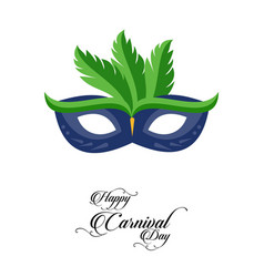 Happy brazilian carnival day blue color carnival vector