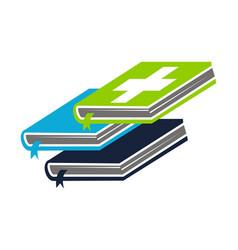 health books logo design template vector image