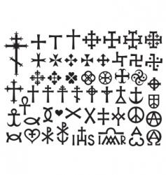 heraldic crosses vector image