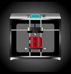 household 3d printer silver color on background vector image