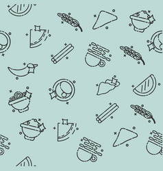 indian food concept pattern vector image