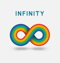infinity abstract sign design element vector image