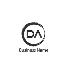 Initial letter da logo template design vector