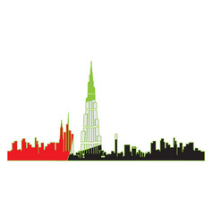 isolated cityscape of dubai vector image