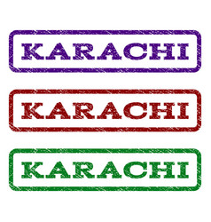 Karachi watermark stamp vector