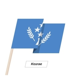 Kosrae Ribbon Waving Flag Isolated on White vector image