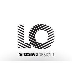 Lo l o lines letter design with creative elegant vector