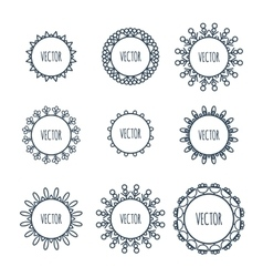 Logo collection Round Ornament Pattern vector image