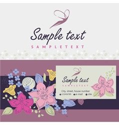Logos and identification Business card banner vector image
