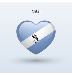 Love Ciskei symbol Heart flag icon vector image