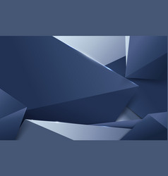 Luxury silver and blue polygonal background vector