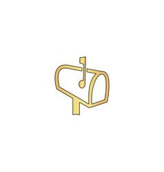 Mailbox computer symbol vector