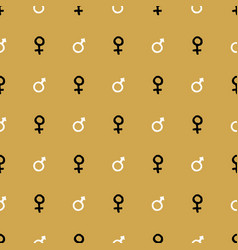 mars and venus seamless pattern hand drawn vector image