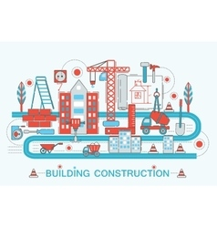 Modern Flat thin Line design Construction and vector