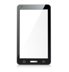 New black smartphone vector image