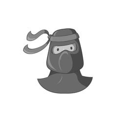 Ninja icon black monochrome style vector image