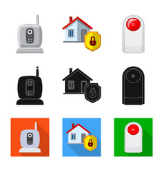 office and house logo set vector image