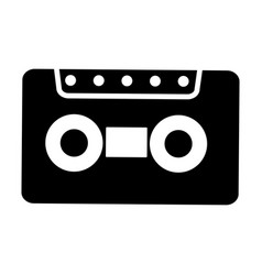 old cassette isolated icon vector image