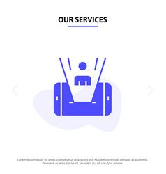 our services mobile cell man technology solid vector image