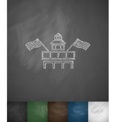 Parliament Building Miami icon Hand drawn vector image