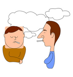people smoking on white background vector image