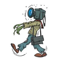 photographer zombie vector image